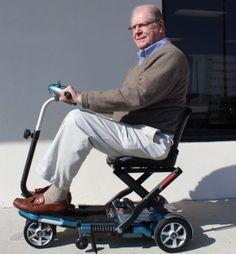 EV Rider Transport Folding Travel Electric Mobility Scooter SLA Batteries