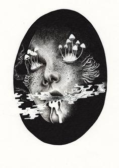Painting Inspiration, Art Inspo, Art Sketches, Art Drawings, Psy Art, Arte Horror, Psychedelic Art, Surreal Art, Aesthetic Art