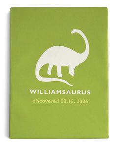 Customizable 'Dinosaur' Canvas. This is def gonna be a DIY.