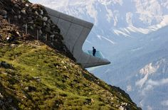 Messner Mountain Museum buried into an alpine peak, 2015 / Architect: Zaha Hadid /  Read more at http://homes.ninemsn.com.au/2016/04/01/10/35/zaha-hadid-greatest-architectural-projects#Ai26oWypyz2MmMut.99