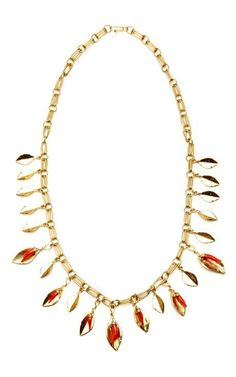 Monteroso Necklace With Coral Bakelite Pimento by Aurélie Bidermann for Preorder on Moda Operandi