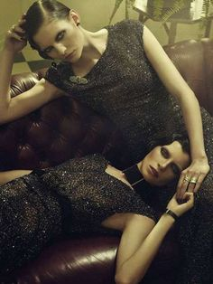 Luxurious Lounging in 'Indochine' for Vogue Germany