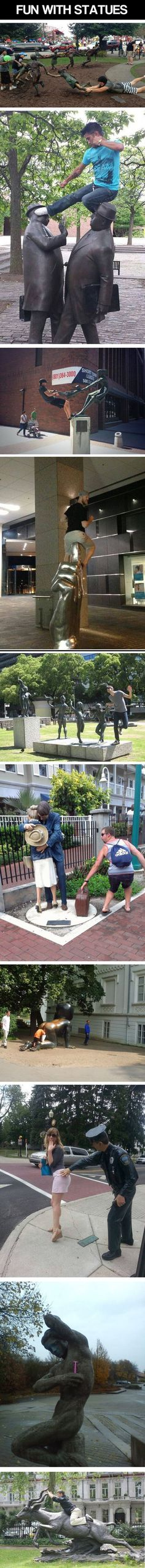 Gonna go do this with some local statues with weekend as a girls date. <3