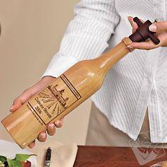 #WineEnthusiast Personalized Wine Bottle Salt Mill