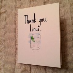 Thank you Linus How I Met Your by RainyDayCraftParty on Etsy, $3.00