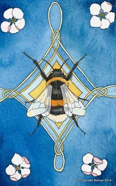 bumblebee totem archival print is part of Bee art - Bumblebee totem archival print artNouveau Print Alessandro Gucci, Motifs Art Nouveau, Art Nouveau Design, I Love Bees, Bee Art, Bee Happy, Art Graphique, Bees Knees, Totems