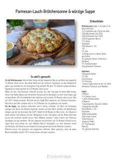Parmesan Lauch Broetchensonne und Ofenmoehren Lauch Parmesan Suppe Rezept Recipe