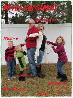 fun family christmas card photo