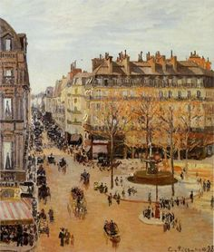 Rue Saint-Honore, Sun Effect, Afternoon - Camille Pissarro