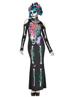 Beautiful Bones Women's Costume - #halloweencostumes #Halloween #Coupons #Deals #Offers