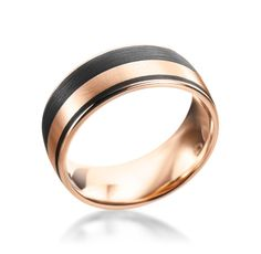Furrer-Jacot Carbon Collection 18K Red Gold & Carbon Fiber Wedding Band (Available at Michael C. Fina)