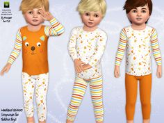 Woodland Critters sleepwear by Minicart - Sims 3 Downloads CC Caboodle