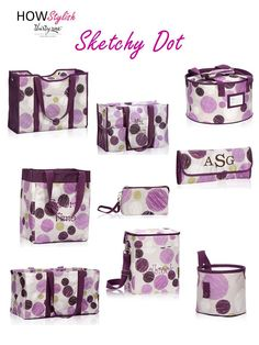 Sketchy Dot -- Spring 2015 Thirty-One.  Created by HOWStylish, independent consultant.