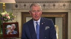 HRH The Prince of Wales supports Earth Hour UK 2015.  Picture of George & Charles in background.