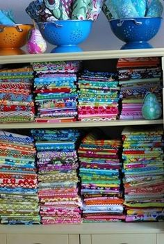 Lots of Fabric Storage Ideas – Organize It!