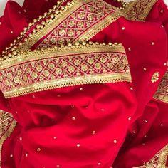 Bridal Pink Zari and Stone Embroidered Velvet Dupatta Beautiful Suit, Beautiful Saree, Pink Kurti, Indian Bridal Wear, Indian Wear, Bridal Dupatta, Simple Pakistani Dresses, Velvet Shawl, Red Shawl