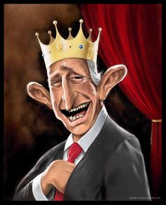 Prince Charles  ..FOLLOW THIS BOARD FOR GREAT CARICATURES OR ANY OF OUR OTHER CARICATURE BOARDS. WE HAVE A FEW SEPERATED BY THINGS LIKE ACTORS, MUSICIANS, POLITICS. SPORTS AND MORE...CHECK 'EM OUT!!
