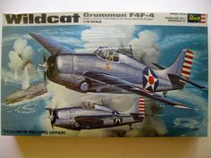 Sealed Original 1969 Wildcat Grumman F4F-4 1/32 Scale Plastic Model Kit