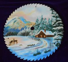 Hand Painted Saw Blade by WidhalmsCollectibles on Etsy, $65.00