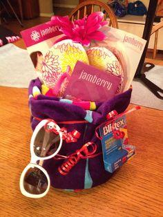 Auction gift basket #jamberry www.allisonjams.com