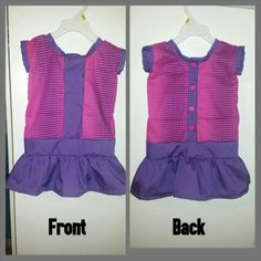 Sorry for the wrinkles...baby girls pink and purple Polk a dot dress size 2t $30 nTICing dEsigns