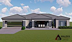House Roof Design, Village House Design, Bungalow House Design, Village Houses, Tuscan House Plans, Modern House Plans, House Plans South Africa, Double Storey House, Free House Plans