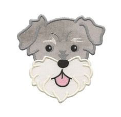 Schnauzer Applique - 3 Sizes! | Tags | Machine Embroidery Designs | SWAKembroidery.com Applique for Kids