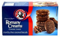 Bakers Romany Creams Classic Choc - Caletoni - British Food for the USA & Canada Coconut Biscuits, Muffin, British, United States, African, Canada, Cream, Usa, Breakfast