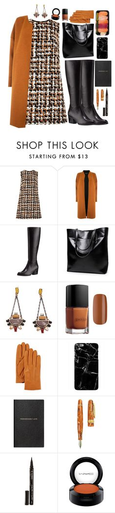 """""""Work"""" by blueonyx25 ❤ liked on Polyvore featuring Dolce&Gabbana, Warehouse, Stuart Weitzman, Neiman Marcus, Smythson, Stipula, Smith & Cult and MAC Cosmetics"""
