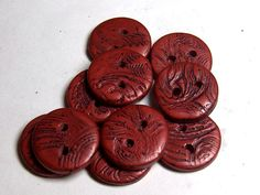 Leather Buttons Texture Polymer Clay