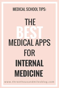 best apps for internal medicine, internal medicine apps, medical apps, three thousand miles Nursing School Tips, Nursing Jobs, Medical School, Nursing Clothes, Internal Medicine Doctor, Whats On My Iphone, Study Apps, Medicine Student, Pharmacology Nursing
