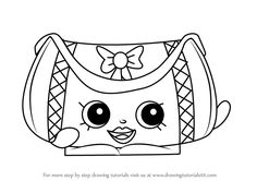 Learn How to Draw Duffa from Shopkins (Shopkins) Step by Step : Drawing Tutorials