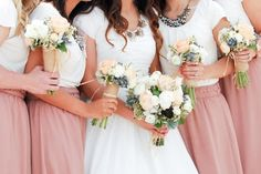 Mauve and Ivory Bridesmaids Dresses | http://rebekahwestover.com/