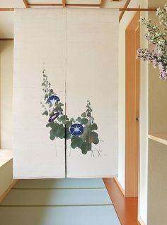 Noren for doorway privacy.