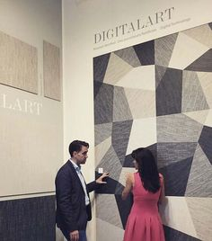 #CeramicaSantAgostino CEO Filippo Manuzzi discussing the brand new collection #DigitalArt during #Coverings2015 #design #interiordesign #inspirations #homedecor #denim #graphic #fabric #art #digital #textile #designtiles