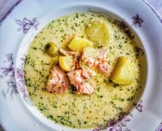 Salmon soup at Savotta in Helsinki.