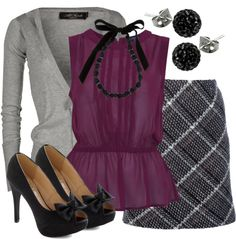 """Teacher, Teacher- need some greys and burgandy clothes for school-New York and Co. has alot to choose from"