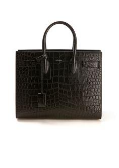 Saint Laurent Handbags :: Saint Laurent Small Sac de Jour crocodile embossed leather bag   Montaigne Market