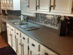 Inspirational Tin Backsplash White Cabinets