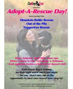 CANINE TO FIVE ADOPT-A-RESCUE EVENT  Adoption event for local shelters in Halfmoon, NY