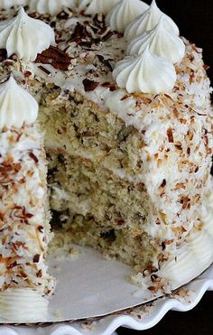 Italian Cream Cake...despite the name, it's actually a Southern USA dish!