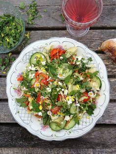 Wildkräuter-Garten-Salat