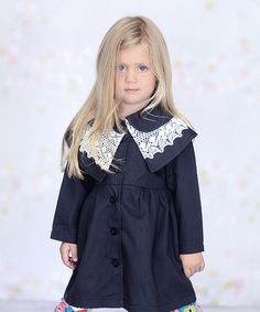 Look what I found on #zulily! Fiesta Navy Kelly Coat - Infant, Toddler & Girls by Jelly the Pug #zulilyfinds