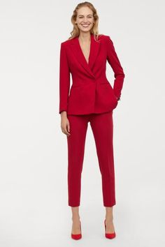 Tailored trousers in woven fabric with a concealed hook-and-eye fastener, zip fly, and side and back pockets. Business Casual Dresscode, Business Outfits, Business Fashion, Business Attire, Business Formal, Office Outfits For Ladies, Suit Fashion, Fashion Outfits, Woman Outfits