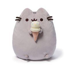 """Pusheen with Ice Cream Cone 9.5"""" Plush # 4048872 Gund MOST SOLD ON EBAY #GUND"""