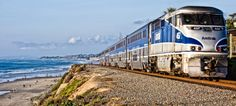 Explore beautiful SoCal from San Luis Obispo to San Diego on The Pacific Surfliner. The view from the train as it travels through the charming beach in Del Mar is breathtaking.
