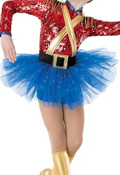 34-8735+Toy+Soldier+Tutu+-+Royal+blue+tutu+on+elastic+waistband.+Made+in+USA.