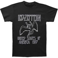 Led Zeppelin Men's Us 77 Tour T-shirt ($23) ❤ liked on Polyvore featuring men's fashion, men's clothing, men's shirts, men's t-shirts and mens t shirts