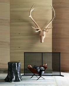 Carved Wood Le Stag Wall Decor Habitat Home Garden