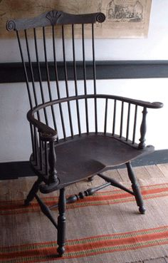 Black Windsor Chair    Nice repro by Hoffmanwoodward.com - my favorite style chairs....Fanback Windsors.